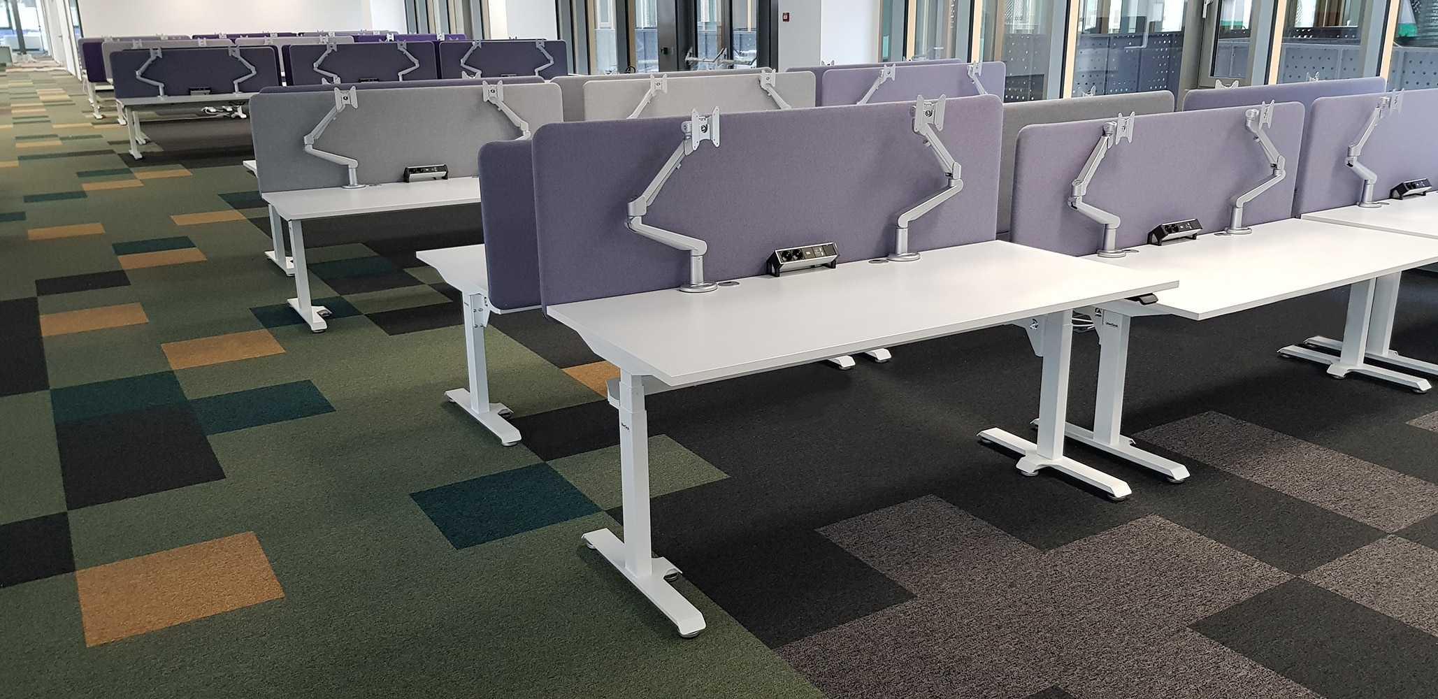 Modern office in Europe with height adjustable desks BulDesk Pro Plus