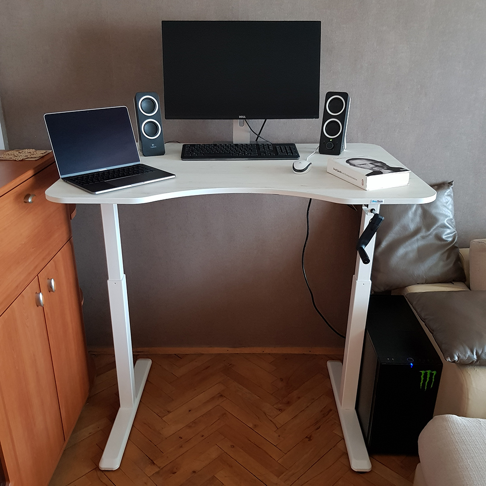 Modern home office with standing desk BulDesk