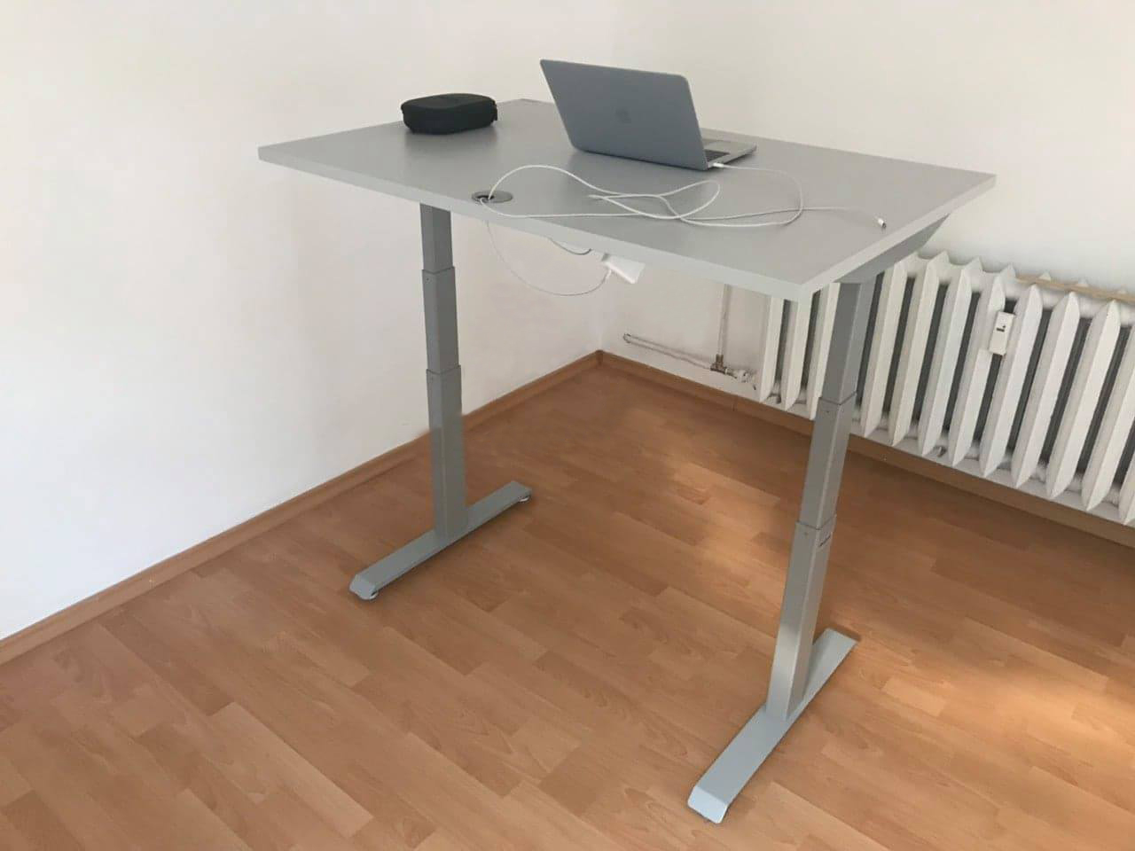 Maximum height standing desk BulDesk Pro Grey