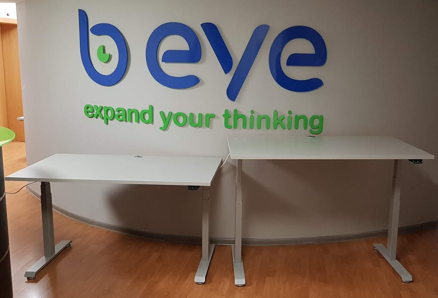 Electric height adjustable desks BulDesk Pro in offices of B EYE
