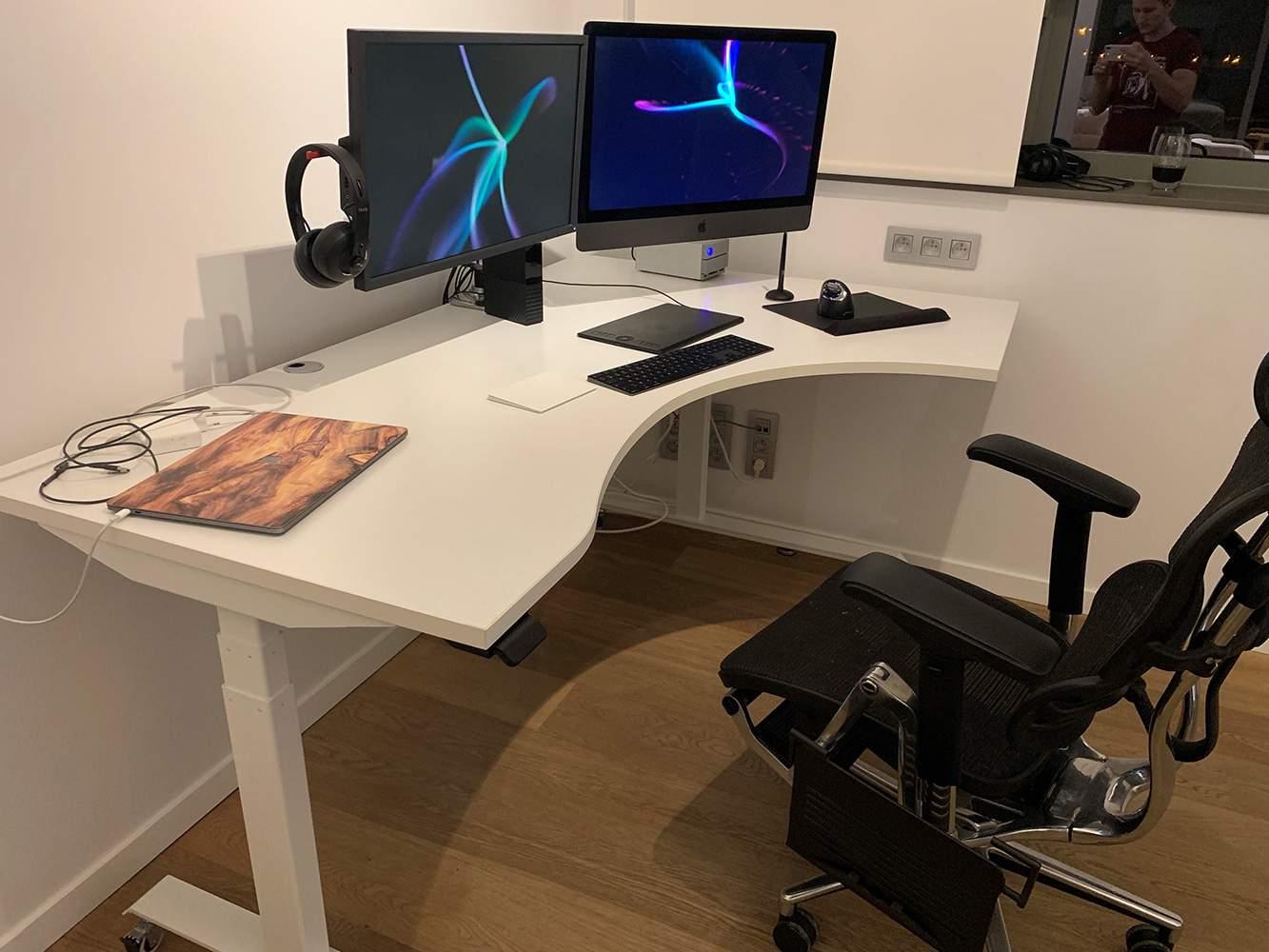 Standing desks BulDesk Pro L-shape White